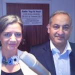 Abbas Rizvi & Økonomi- og indenrigsminister Margrethe